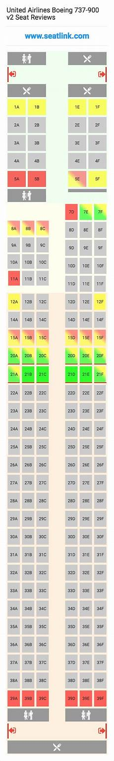 United Airlines Boeing 737 Seating Chart United Airlines Boeing 737 900 V2 Seating Chart Updated