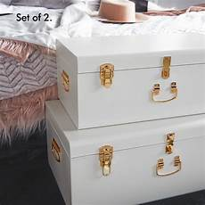 beautify large storage trunks box chest set of 2