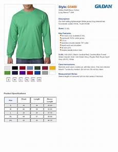 Gildan 5400 Size Chart Gildan G5400 Heavy Cotton Long Sleeve T Shirt 6