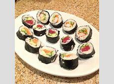 Homemade Sushi Rolls Recipe   Kitchenbowl