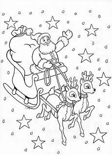 santa sleigh perhaps for malvorlagen