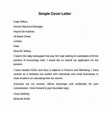 Simple Cover Letter For Resume Samples Free 8 Sample Cover Letter Templates In Pdf Ms Word