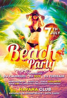 Beach Party Flyer Template Free Beach Party Flyer Template Vol 2 Awesomeflyer Com