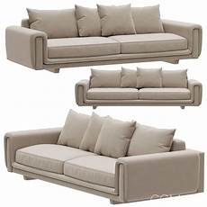 Sofa Seat 3d Image roche bobois underline 4 seat sofa 3d model for vray