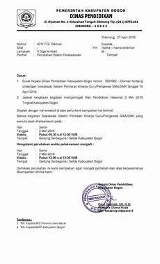 surat undangan sosialisasi sistem penilaian kinerja guru
