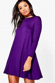 sleeve swing dress month boohoo womens april scoop neck sleeve swing dress ebay