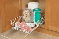 sliding cabinet organizer basket storage drawer rack