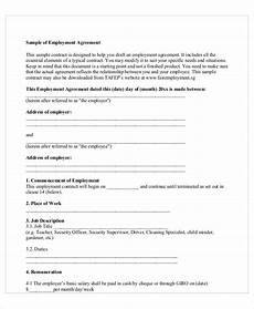 Employee Agreement Form Free 19 Sample Contract Employee Agreement Templates In