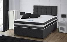crushed velvet divan bed memory mattress headboard 3ft