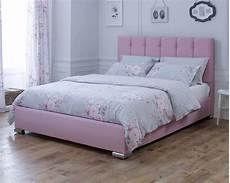catherine lansfield canterbury pink bed frame