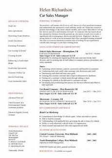 Auto Dealership Sales Manager Resume Automotive Sales Managers Resume Car Sales Resume Example