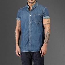 sleeve denim shirt sleeve light denim wesc shirt wehustle menswear