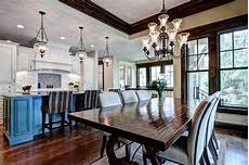 Living Kitchen Dining Open Floor Plan Open Floor Plan Kitchen And Dining Room Traditional