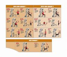 Weight Lifting Exercise Chart Workout Chart 9 Download Free Documents In Pdf