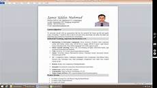 Pictures On Resume How To Insert Photo In Resume In Ms Word 2019 Youtube