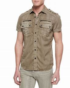 belstaff franklin sleeve two pocket shirt in