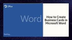 Business Cards In Word How To Create Business Cards In Microsoft Word Youtube