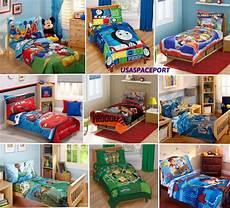 4pc boys toddler bedding set comforter sheets bed in a bag
