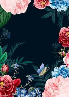 Floral Background Design Elegant Floral Poster Template Royalty Free Stock Vector
