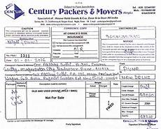 Movers And Packers Bill Packers And Movers Bill For Claim Pune Bangalore Chennai