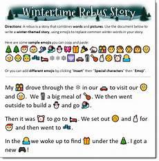 Stories Using Emojis Time To Talk Tech Wintertime Rebus Story Using Emojis In
