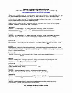 Examples Of Personal Statements For Resumes 10 Sample Resume Objective Statements