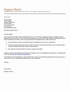 Letter Writing For Office Office Manager Cover Letter Example