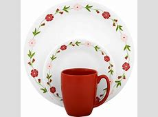 Corelle Livingware Spring Pink 16 Piece Dinnerware Set