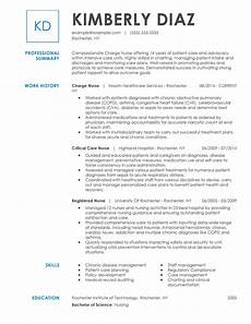 Nurse Resume Customize Your Registered Nurse Resume With Myperfectresume