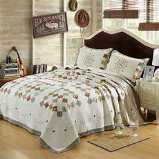 100 cotton king size quilted bedspread coverlet set new