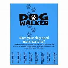 Dog Walker Flyers Dog Walker Promotional Tear Sheet Flyer Template B Zazzle