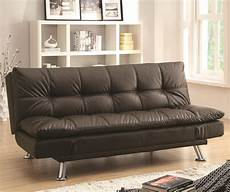 sofa beds sofa bed in futon style with chrome legs