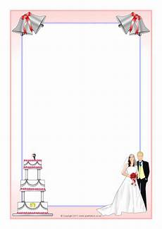 Wedding Page Border Royal Wedding A4 Page Borders Sb4577 Sparklebox
