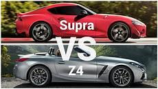 2020 toyota supra vs bmw z4 2020 toyota supra vs bmw z4 visual design comparison
