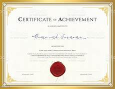 Certificate Of Template Certificate Template For Achievement With Gold Border