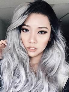 evahair best seller grey silver ombre wavy