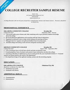College Recruiter Resume College Recruiter Resume Sample Resumecompanion Com