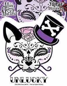 Unlucky Designs Sticker Unlucky Kitty Im Sugar Skull Design