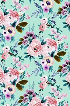 teal flower iphone wallpaper colorful fabrics digitally printed by spoonflower