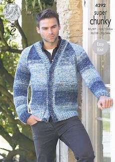knitting men mens chunky knitting pattern king cole easy knit