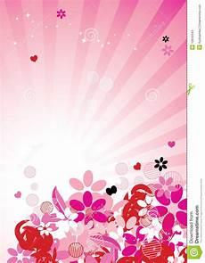 Floral Background Design Pink Floral Background For Your Design Stock Vector