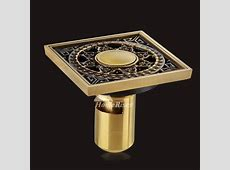 ASTM Deep Water Brushed Brass Deodorant Square Shower Drain