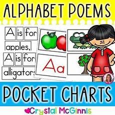 Pocket Chart Poems For Kindergarten Pocket Charts 26 Alphabet Poems For Shared Reading