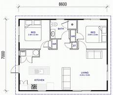 flat 2 bedroom 60m2 house plan latitude homes