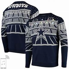 Dallas Cowboys Light Up Dallas Cowboys Bluetooth Light Up Ugly Sweater Navy