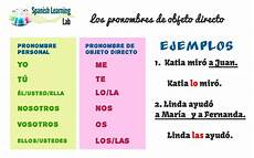 Indirect Object Pronouns Spanish How To Use Spanish Direct Object Pronouns Spanishlearninglab