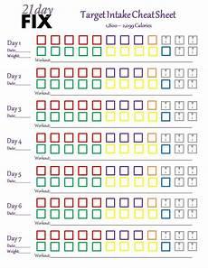 21 Day Fix Chart 21 Day Fix Cheat Sheet 21 Day Fix Workouts 21 Day Fix