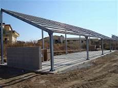 tettoie in acciaio tettoia fotovoltaica ad 1 falda mech strutture in acciaio