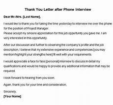 Example Thank You Note After Interview Sample Thank You Letter After Interview 15 Free
