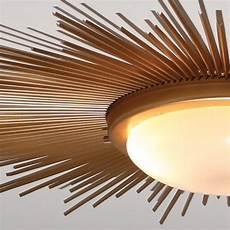 Contemporary Flush Mount Ceiling Lights Global Views 9 91411 Sunburst Gold Modern Contemporary
